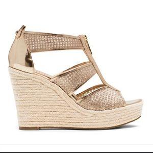 Michael Kors Gold Sparkly Sandals